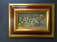 Still Life Oil Painting, Fruit, Vintage, Early 20th Century, Signed, Framed
