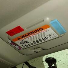 Car Interior Sun Visor Parking Card Pen Holder Clip Accessory Number Storag Box