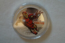 Iron Man - Superhero - 1 oz. Silver Plated Souvenir Coin in Case.