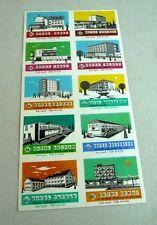 UNCUT MATCHBOX LABELS CZECHOSLOVAKIA HOTEL HOTELS KRIVAN DUNAJ TATRAN TOKAJ