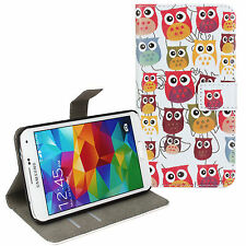 For Samsung Galaxy S5, Multi Owl Design Leather Wallet Card Case Cover Stand