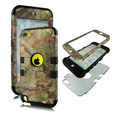 Pine   camo blk Stp for Apple iPod Touch 6 6th Gen Hybrid 3 in1 Case Cover