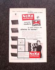 M305- Advertising Pubblicità -1960- NEXA ANTITARME INODORO