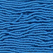 New listing Czech Seed Beads 8/0 Opaque Turquoise 31472 (6 strand hank) Glass