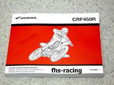 HONDA CRF 450 R , 2002 - 2003 , Werkstatthandbuch , Owners Maintenance Manual !!