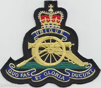 British Army - The Royal Regiment of Artillery RA - Embroidered Patch Badge