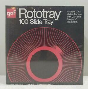 GAF Rototray 100 Slide Tray Projector Sawyer's GAF 2 x 2 Slides New Sealed NOS