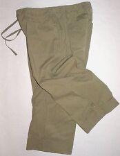 J. Jill Cuff Wide Leg Cropped Military Pant Olive Green Crop Stretch size 10