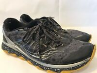 Saucony Men's Run Anywhere Power Grid Running Black & Gray Shoes - Size 12