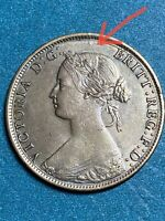 1861 Canada~New Brunswick  One Large Cent With ERROR! AU~UNC.EXTREMELY RARE!!!