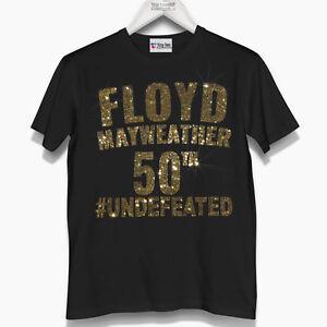 Men's Floyd Mayweather Team Crystallized Studded T-Shirt - Boxing Legend - VIP