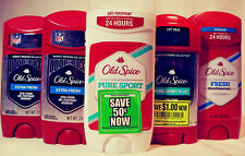 OLD SPICE 5 PACK DEODORANT EXTRA FRESH / PURE SPORT PLUS / FRESH / PURE SPORT