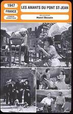FICHE CINEMA : LES AMANTS DU PONT ST JEAN - Simon,Morlay,Decoin 1947