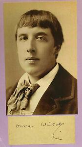 Oscar Wilde  - Literatur - original Autogramm  -  Größe 10  x 4 cm