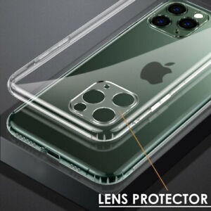 LENS Protector CLEAR Case For iPhone 12 Pro Max 11 12 Mini Gel Cover Shockproof