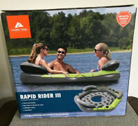 Ozark Trail Rapid Rider III Pool Beach Float Water Raft Lake Green Gray