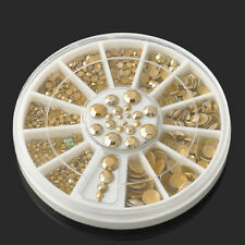5 Sizes DIY Gold Rhinestone Nail Art Decoration 3D Acrylic Manicure Glitter