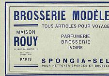 PARIS BOETIE MAISON ROUY BROSSERIE EPONGES BROSSES PUBLICITE 1916