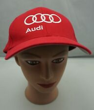 Audi Hat Red Stitched Fitted Size Large / XL Baseball Cap Pre-Owned ST230