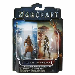 World Of Warcraft Mini Figure 2 Pack LOTHAR VS GARONA