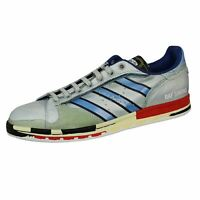 ADIDAS BY RAF SIMONS MENS RS MICRO PACER STAN SMITH SILVER AND RED TRAINERS