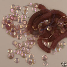 Vintage 1930's French Sequins 6mm Pink Iris/ab Transparent Round NOS 50 pieces