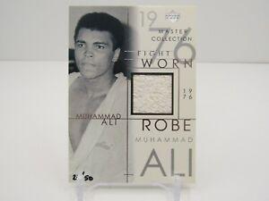 MUHAMMAD ALI 2000 UPPER DECK 1976 FIGHT WORN ROBE PATCH #24/50- BOXER