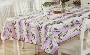 "Vinyl Tablecloth w/soft flannel back,52""x52"" Square, FLOWERS, PROVENCE LAVENDER"