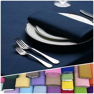 Cotton Plain Fabric Tablecloth Square Rectangular Round Dining Table Cover