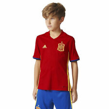 Adidas Spain Youth Scarlet/Yellow 2016/17 Home Jersey - Soccer
