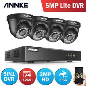 ANNKE 8CH 1080P HD Home CCTV Security Camera System 5MP Lite DVR 3000TVL Outdoor