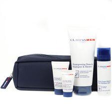 Clarins Men 50ml Super Moisture Balm Travel Gift Set Face Wash Shampoo & Shower