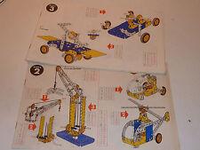 VINTAGE LOT manuel d'instructions MECCANO boite n°2-3 camion GRUE moulin VOITURE