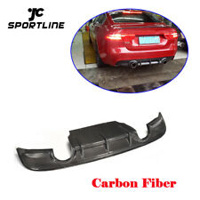 For Jaguar XE 2015 2016 2017 Rear Bumper Diffuser Lip Spoiler Kit Carbon Fiber