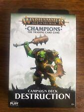 Warhammer Age of Sigmar Champions Campaign Deck Destruction