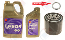 6QTS. ENEOS 5w-30 SYNTHETIC Oil + Oil Filter + CRUSH Washer for MITSUBISHI