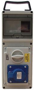 ESR Switched RCD Interlock Socket IP44 16A 2P+E 3 Pin 200V - 250V 2 Pin + Earth