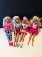Vintage Barbies lot of 4 Heart Valentines Pink Skirts Lovely Set