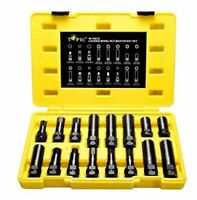 TOPEC 16 SAE Metric Piece Locking Lug Master Key Set, Wheel Lock Removal Kit