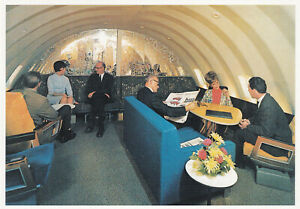 SABENA BOEING 747 FIRST-CLASS LOUNGE POSTCARD