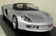 Maisto 1/18 Scale Porsche Carrera GT Silver Dealership Edition Diecast Model Car