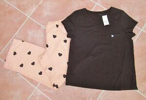 George - BNWT - Womens Black / Pink Pyjamas - size 12/14