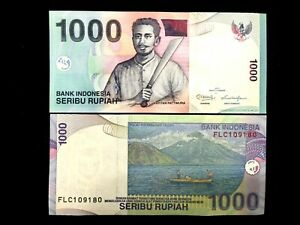 Indonesia Note 1000 Rupiah Banknote Currency BILL UNC