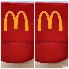 (2) 2020 McDonald's Koozies Coozies Java Soks Large Plastic Cup Sleeve 32oz