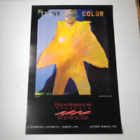 """LEN AGRELLA POSTER FOR GALLERY TUCSON MUSEUM OF ART THINK COLOR 30""""X20"""" 1991"""