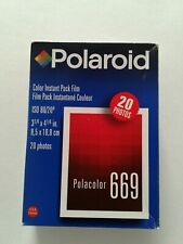 Polaroid Color Instant Film 2 Packs Polacolor 669 20 photos ISO 80 Expired 10/99