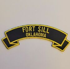 """Fort Sill-Oklahoma 4"""" rocker tab embroidered patch"""
