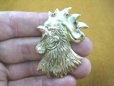(b-bird-850) Wild game Rooster head cock fowl bird pin brooch I love roosters