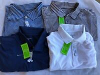 NWT Men's Crown & Ivy Golf Feeder Stripe Polo short sleeve size S/M/L/XL/2XL