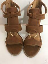 Qupid Women Block Heel Shoes, Tan Sz 8.5